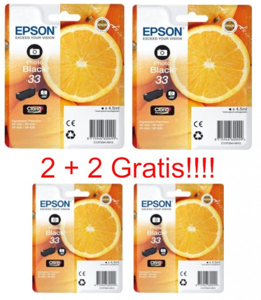 2 x Original Epson 33 Photo Tinte Patrone XP540 XP640 XP900 XP530 XP630 XP635 XP830