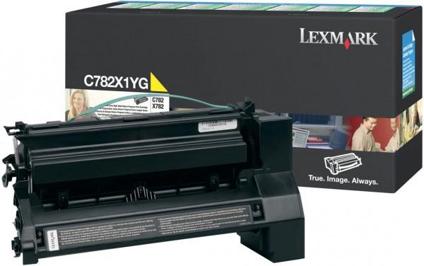 Original Lexmark Toner C782X1YG gelb für C 782 X782 Neutrale Schachtel