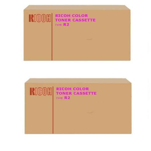 2x Original Ricoh Toner Type R2 888346 magenta für Aficio 3228C 3235C 3245C