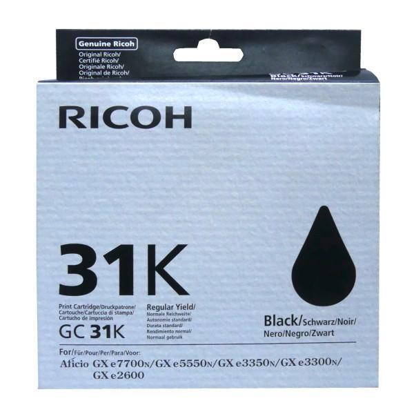 42520_Original_Ricoh_Gel_Patrone_GC-31BK_für_Aficio_GX_e_2600_3300_3350_AG