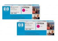 2x Original HP Toner C9703A für HP Color LaserJet 1500 2500 Neutrale Schachtel