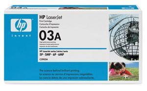 Original HP Toner 03A C3903A LaserJet 5P 5MP 5MV 6P 6MP 6PXI Neutrale Schachtel