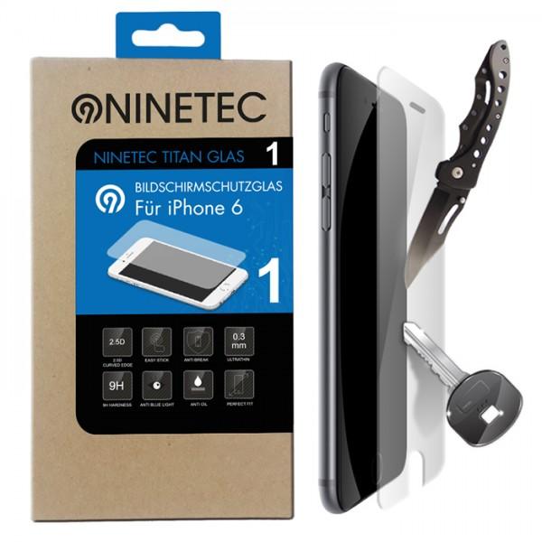 NINETEC Titanglas Schutzfolie für iPhone 6