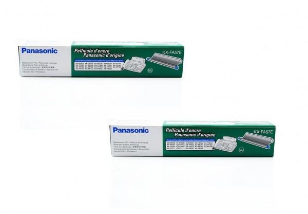 2x Original Panasonic Thermotransferrolle KX-FA57E für KX-FHD 330 350 Series B-Ware