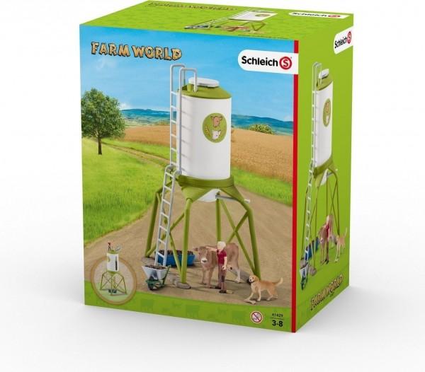 Schleich - Farm World Futtersilo mit Tieren - Spielfigur 41429