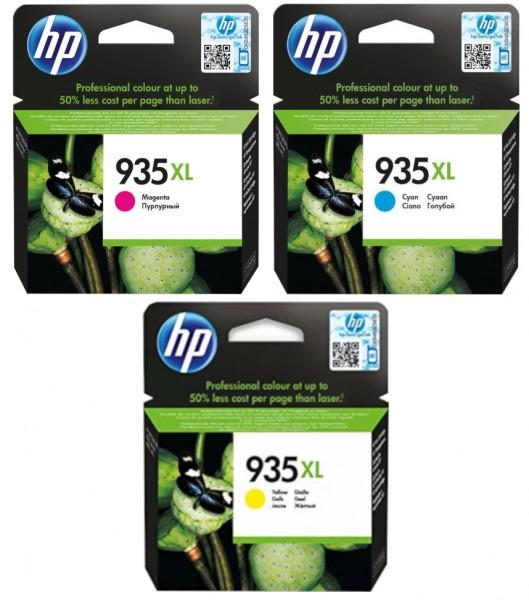 3x Original HP 935XL Tinte Patrone für OfficeJet 6820 Pro 6230 6830 6835 MHD
