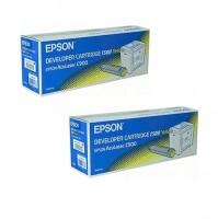 2x Original Epson Toner C13S050155 gelb für Aculaser C 900 B-Ware