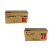 2x Original Ricoh Toner 339474 schwarz für Fax 1700 1750 Neutrale Schachtel