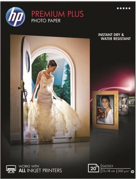 HP Premium Plus Fotopapier (CR676A) glänzend 20 Blatt, 13 x 18 cm