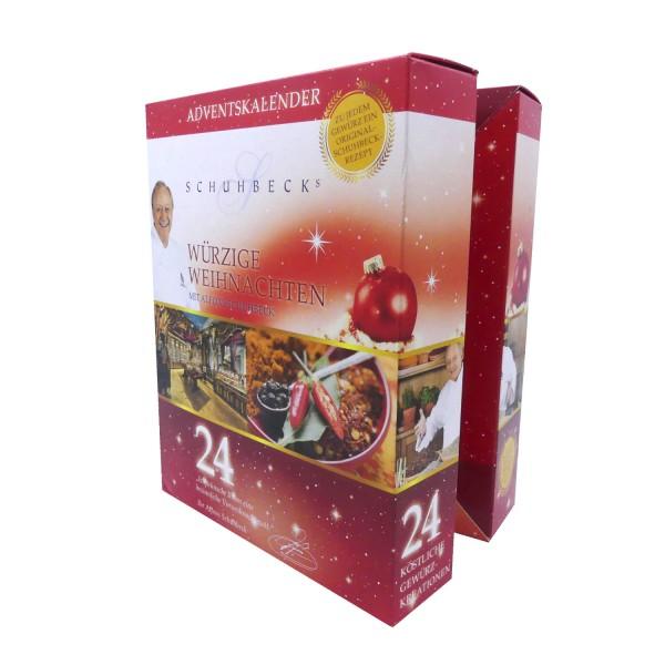45488_Schuhbeck´s_Gewürz_Adventkalender_Weihnachtskalender_24_erlesene_Gewürze_im_Glas
