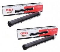 2x Original OKI Toner 79801 schwarz für Okifax 4500 4550 4580 B-Ware