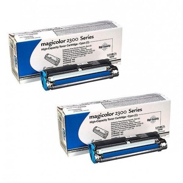 2x Original Konica Minolta Toner 1710517-008 für Magicolor 2300 Neutrale Schachtel
