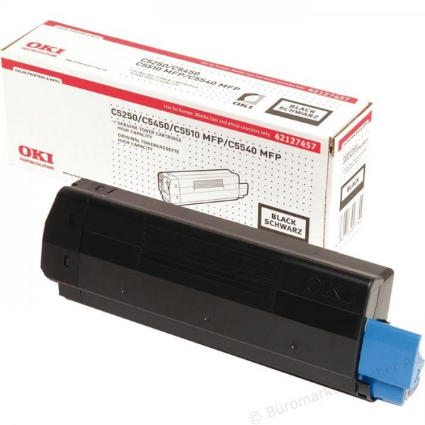 Original OKI Toner 42127457 schwarz für C5150n 5250dn 5250n 5450dn B-Ware