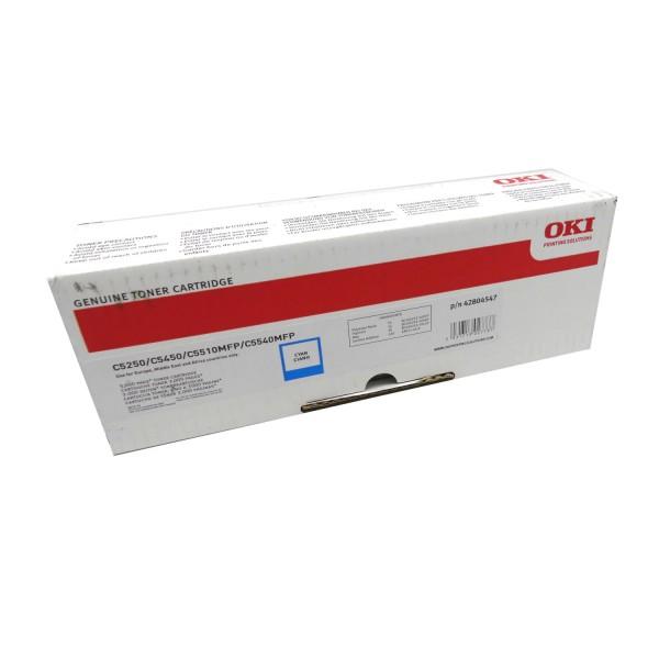 Original OKI Toner 42804547 cyan für C 5250 5450 5510 5540 B-Ware