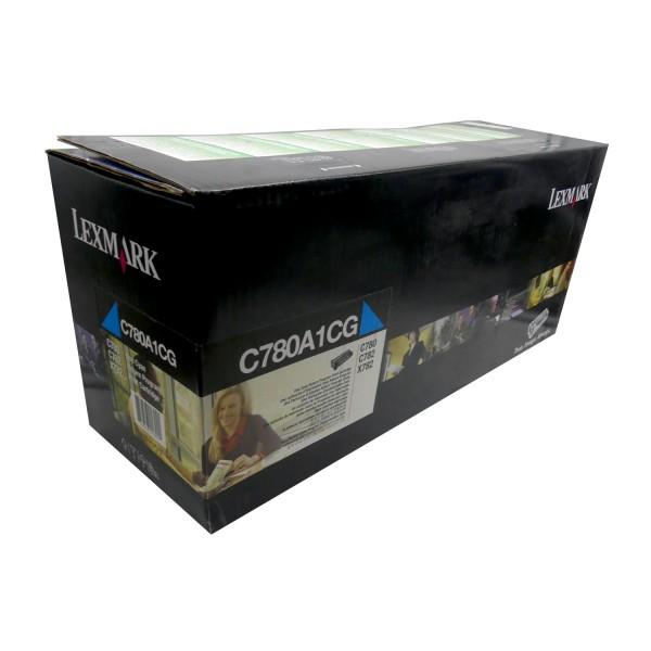 Original Lexmark Toner C780A1CG cyan für C 780 782 X 782 Neutrale Schachtel