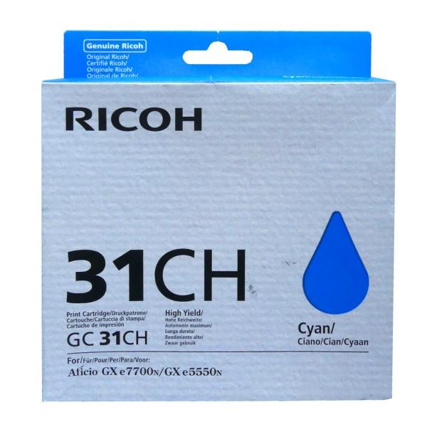 42519_Original_Ricoh_Gel_Patrone_GC-31CH_cyan_für_Aficio_GX_e_5550_7700_AG