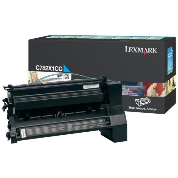 Original Lexmark Toner C782X1CG cyan für C 782 X782 Neutrale Schachtel