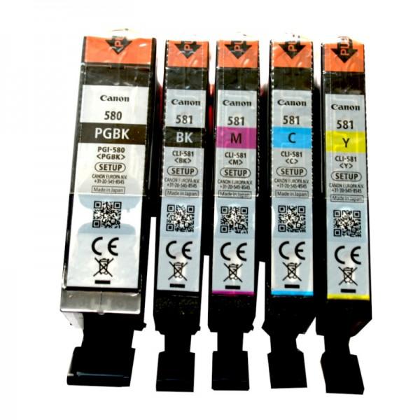5 Original Canon Tinte Patronen PIXMA TR7550 TR8550 TS6150 TS8150 SET