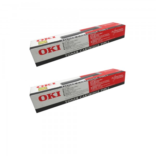2x Original OKI Toner 09002395 Okipage 6E 6EX 1000 2000 5200 5400 Neutrale Schachtel