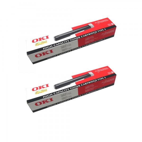 2x Original OKI Toner 40433203 schwarz für OKIpage 10 12 14 Neutrale Schachtel