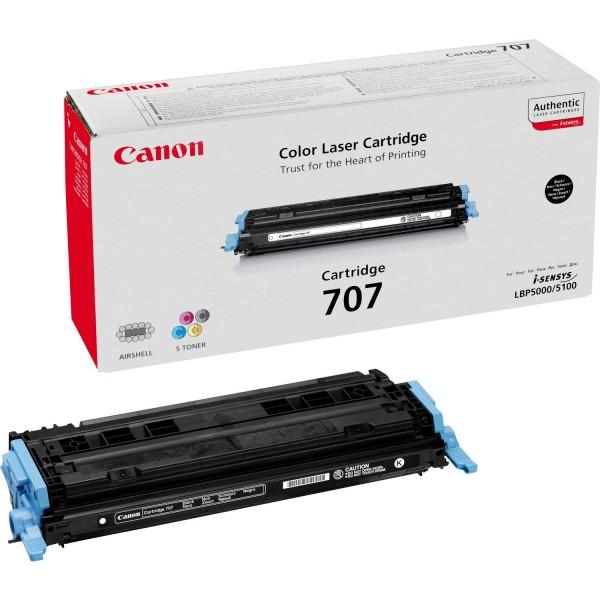 Original Canon Toner 9424A004 CRG-707BK I-Sensys LBP-5000 Neutrale Schachtel