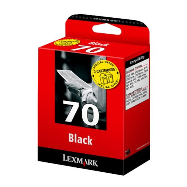 Lexmark 70 BK, 2er-Pack (80D2123) OEM