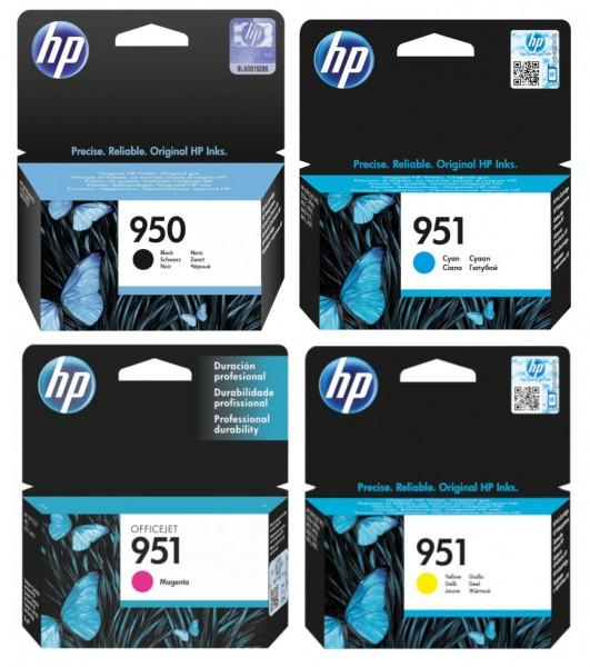 4x Original HP Tinte Patrone 950 951 Officejet 8600 8615 8620 8630