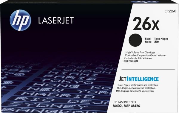 Original HP Toner 26X CF226X schwarz für Laserjet Pro M402 M426