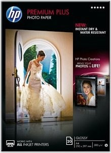 HP Premium Plus Fotopapier (CR672A) glänzend A4 20 Blatt 300g