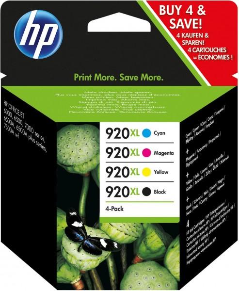 45279_4x_Original_HP_920_XL_Tinte_Patrone_OFFICEJET_6000_SE_6500A_7000_7500A_AG