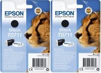 2x Original Epson T0711 Tinte Patrone Gepard SX100 SX105 SX110 SX200 SX205 SX400