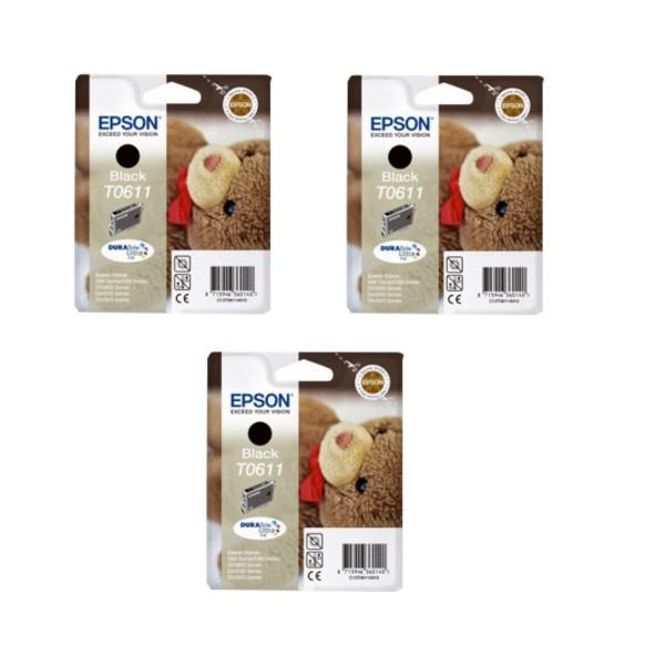 2 Original Epson T0611 Tinte D68PE D88PE DX3800 DX3850 DX4200 DX4250 DX4800 DX4850