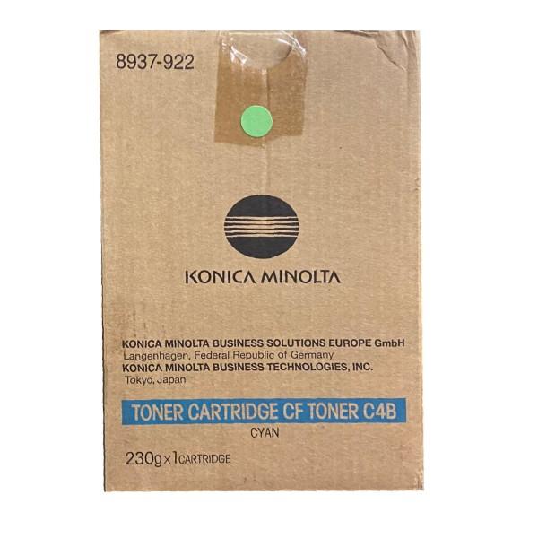 Original Konica Minolta Toner CF C4B (8937-922) cyan für CF 2002