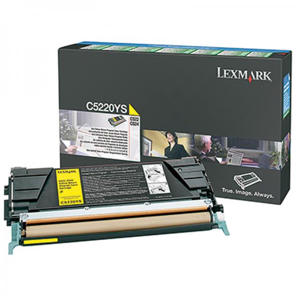 Original Lexmark Toner C5220YS gelb für C 520 522 530 532 534 Neutrale Schachtel