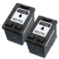 2x REMAN DRUCKER PATRONE für HP 21 XL DESKJET F370 F375 F380 F2180 F2224 F2280 F4180