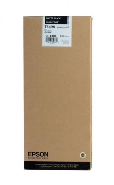 Original Epson Tinte T5498 mattschwarz für Stylus Pro 10600 B-Ware