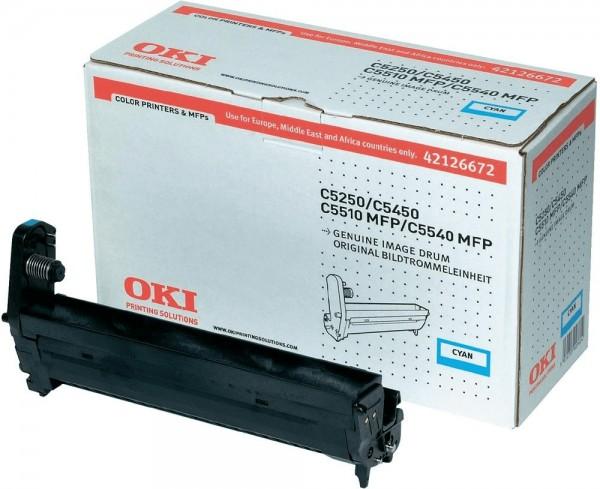 Original OKI Trommel 42126672 cyan für C 5250 5450 5510 5540 Neutrale Schachtel