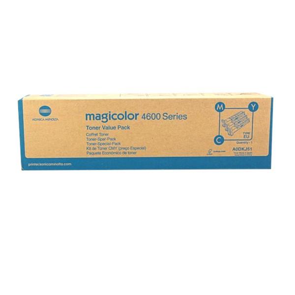 Original Konica Minolta Toner A0DKJ51 C/M/Y für Magicolor 4650 B-Ware