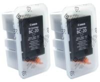 2x Original Canon Tinte Patrone BC-20 BK für BJC-2000 2100 4000 4100 4200 4300 4400 5000 S100