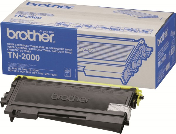 Original Brother Toner TN-2000 für HL 2030 2040 2070 DCP 7010 7025 B-Ware