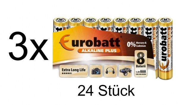 44145_24x_Eurorabatt_AAA_1,5V_Micro_Batterien_Alkaline_Plus_Extra_Long_Life_LR03_AM4_Micro