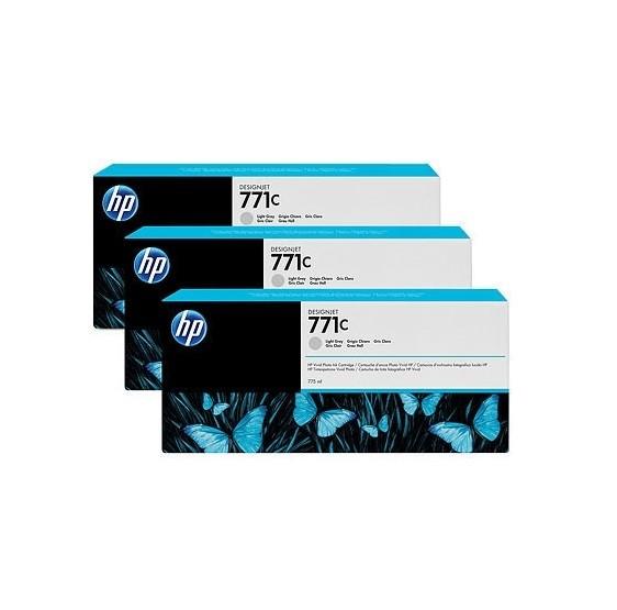 45285_Original_HP_Tinte_Patrone_771C_hell_grau_3er_Pack_für_DesignJet_Z_6200_MHD