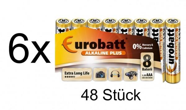 44146_48x_Eurorabatt_AAA_1,5V_Micro_Batterien_Alkaline_Plus_Extra_Long_Life_LR03_AM4_Micro