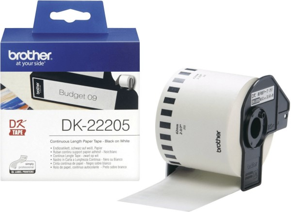 39993_Brother_DK-22205_Weiss_62mm_x_30,48m_Rolle