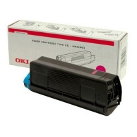 Original OKI Toner 42127406 magenta C5100N C5200N C5300N C5400DN Neutrale Schachtel