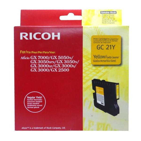 42516_Original_Ricoh_Gel_Patrone_GC-21Y_gelb_für_Aficio_GX_5050_7000_AG