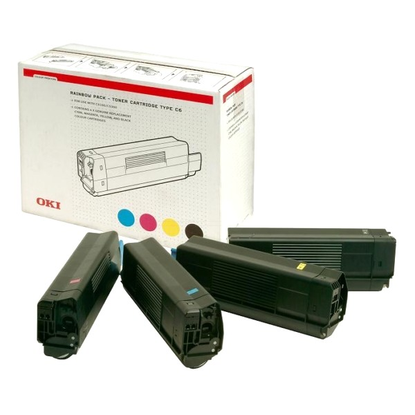 4 Original OKI Toner 42403002 für C 5100 5200 5300 5400 Neutrale Schachtel