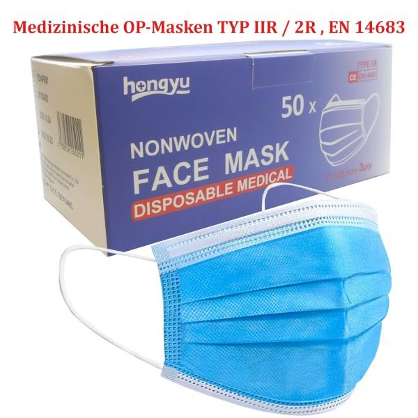 46295_100x_Mundschutz_Typ_IIR_/_2R_OP-Maske_Mund_Nasen_Einweg_Maske_DIN_EN14683