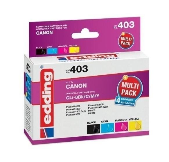 Original Edding Tinte Patrone 403 für Canon CLI-8 Multi Pixma IP 3300 4200 4300 4500
