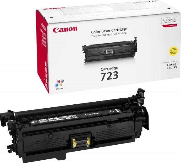 Original Canon Toner 2641B002 CRG 723 gelb für I-Sensys LBP-7750 Neutrale Schachtel